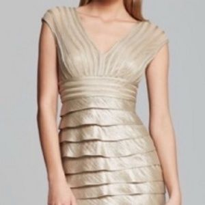 Adrianna Papel Gold Tiered Dress size 12